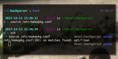 BASH and ZSH compatibility