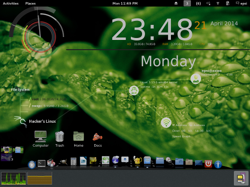gnome shell conky infinity