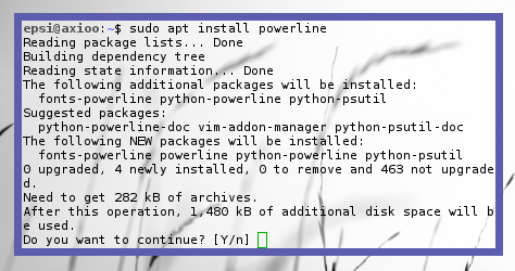 Powerline: Install Debian