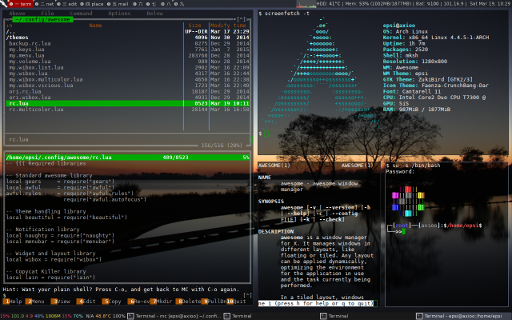 Refactoring Awesome Dark with Midnight Commander