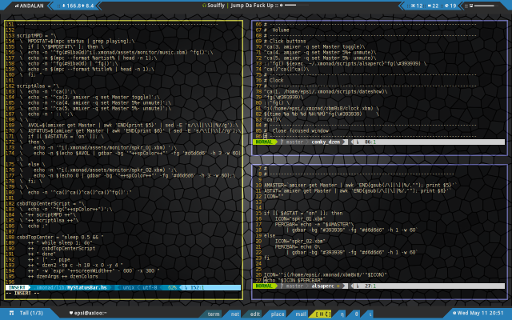 Conkyless XMonad: Comparation of Alsa Script
