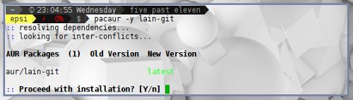 Install Awesome Lain Module Using AUR