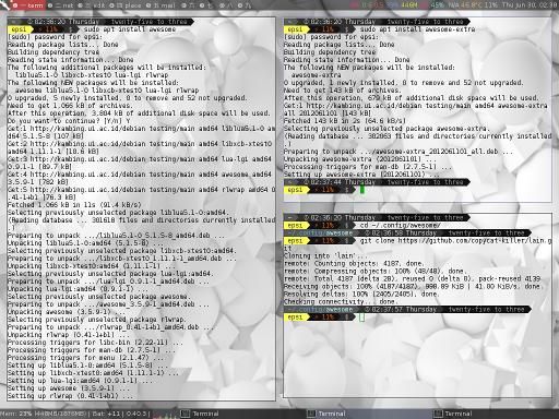 Awesome Install Summary Screenshot