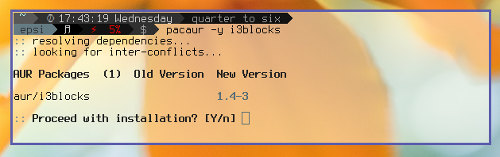 Install AUR i3-blocks