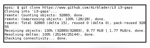 Install AUR i3-gaps