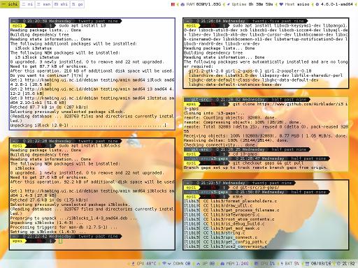 i3 Install Summary Screenshot