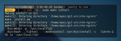VTE-NG make install