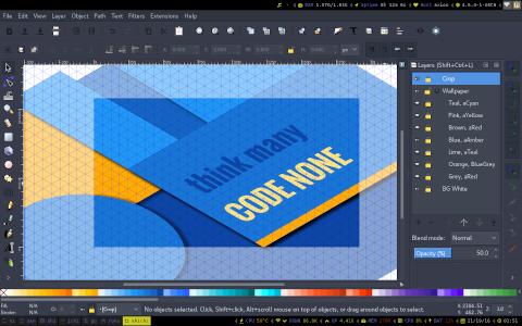 Designing Wallpaper in Inkscape