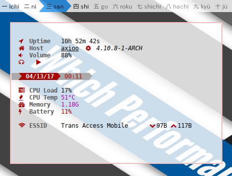 CLI: Using Conky Lua