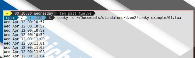 Dzen2 Conky CLI Example