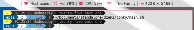 Dzen2: Modularized Conky Lua