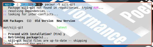 XLFD: Install Siji