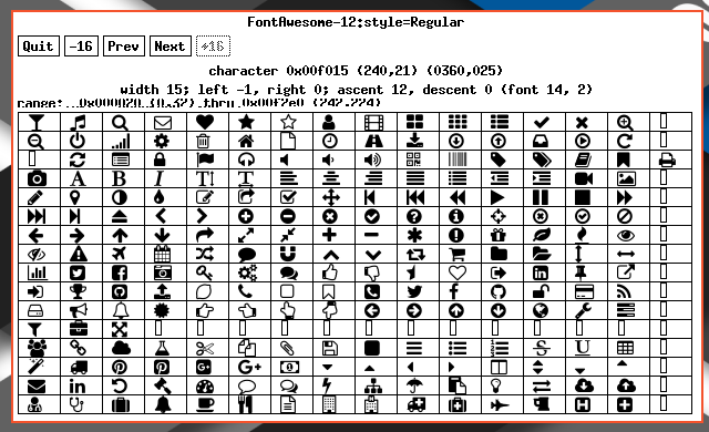 XLFD: Finding Unicode