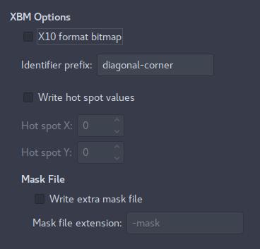 XBM: GIMP: Export Image