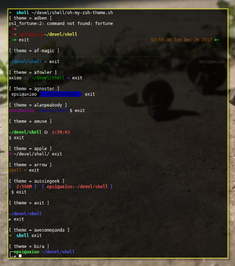 oh-my-zsh: Iterate Theme