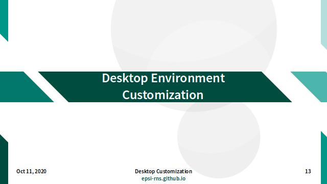 Slide - DE Customization