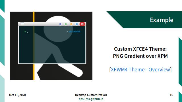 Slide - DE: XFCE4 Theme: PNG Gradient Over XPM