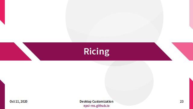 Slide - Ricing