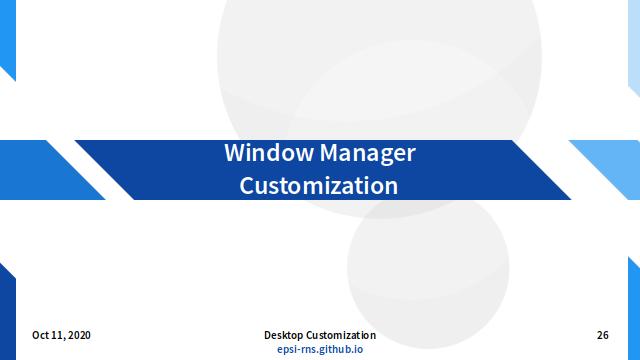 Slide - WM: Customization
