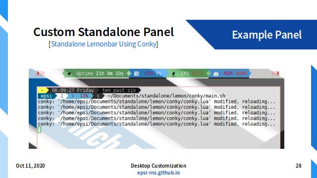 Slide - WM: Custom Standalone Panel
