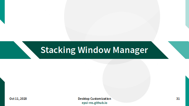 Slide - Stacking: Window Manager