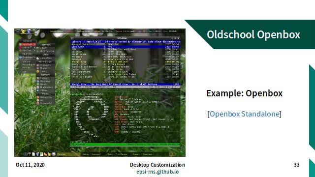 Slide - Stacking: Example Oldschool Openbox
