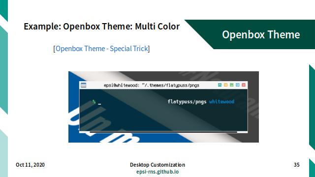Slide - Stacking: Example Openbox Theme