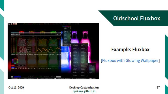 Slide - Stacking: Example Oldschool Fluxbox