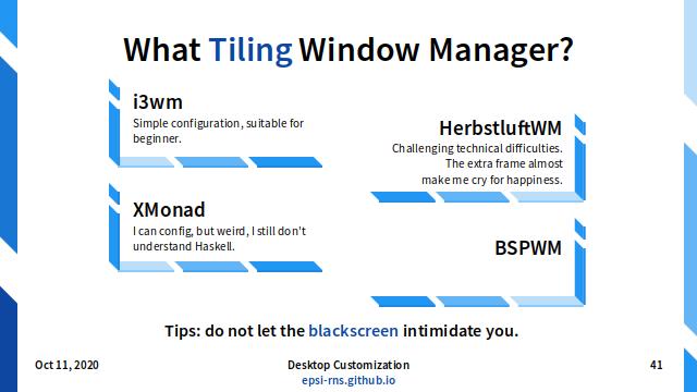 Slide - Tiling Choices