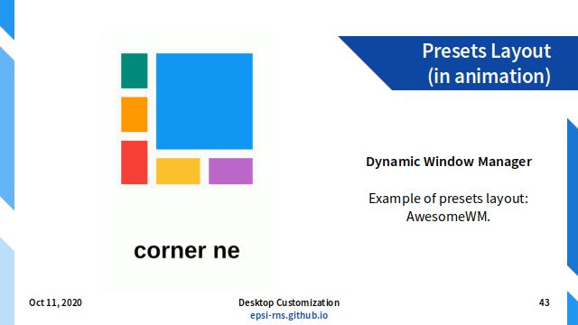 Slide - Dynamic: Presets Layout