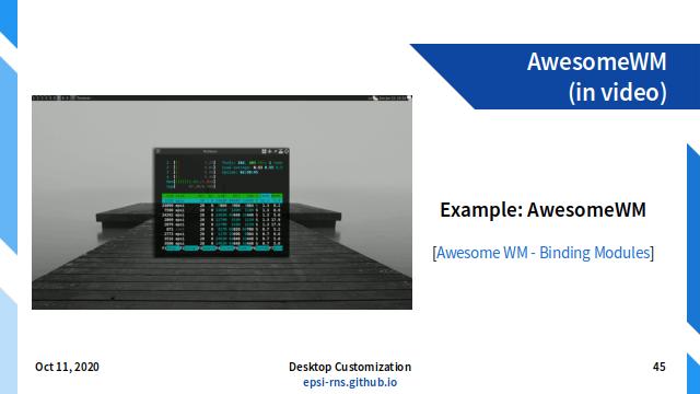 Slide - Dynamic: Example AwesomeWM Fix Width