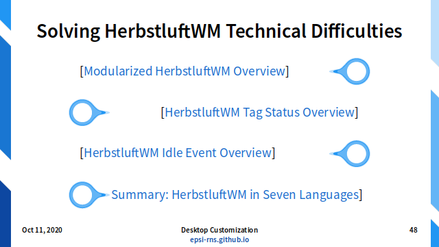 Slide - Tiling: herbstluftwm: Technical Difficulties