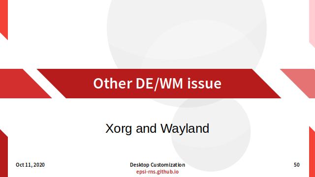 Slide - Other DE/WM Issue