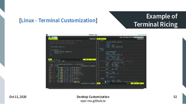 Slide - Terminal: Example Customization