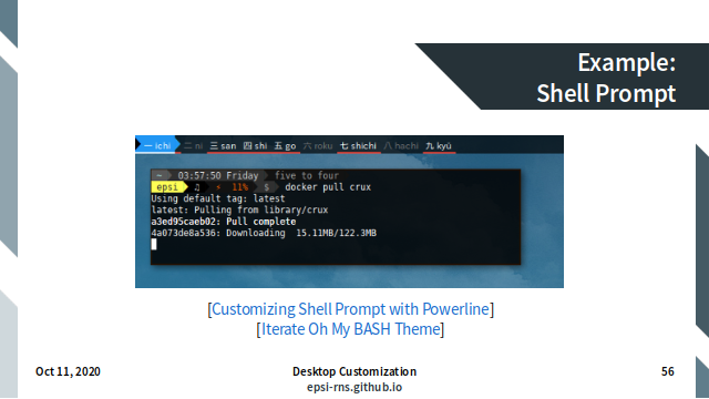 Slide - Terminal Shell Prompt
