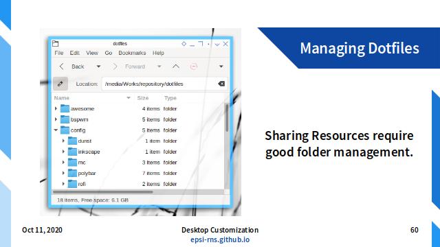 Slide - Dotfiles: Managing Files