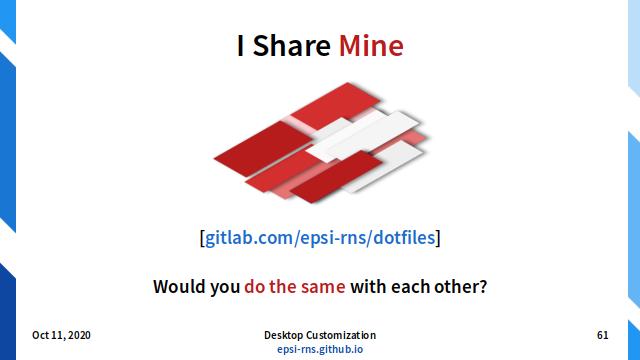 Slide - Dotfiles: Please Share