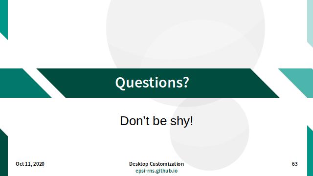 Slide - Questions?