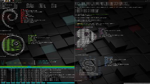 Debian Docker: openbox+terminator+(debian, opensuse, htop, emerge gentoo, slackware)