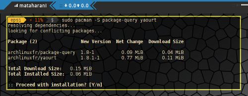 Yaourt Install Using Pacman