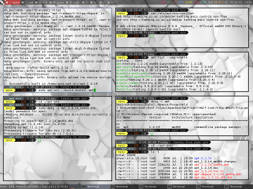 Screenshot Summary of Compiling .deb Source