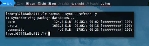 Docker pacman: refresh