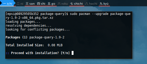 Docker AUR: Package Query: Install