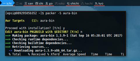 Docker AUR: packer -S aura-bin