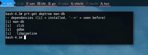 Docker Crux: prt-get Deptree