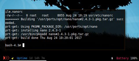Docker: /var/log/pkgbuild/nano.log