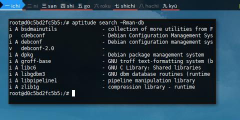 Docker Aptitude: Search ~R