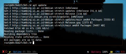Docker APT: update kambing