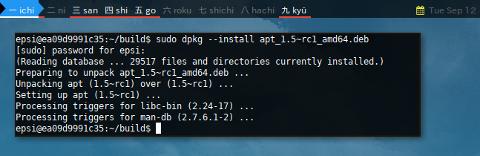 Docker APT-SRC: DPKG Install