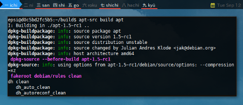 Docker APT-SRC: build apt